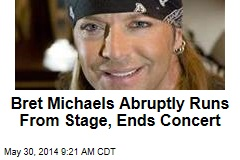 Bret Michaels Abruptly Runs From Stage, Ends Concert