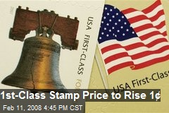 How Much is a First Class Stamp 1