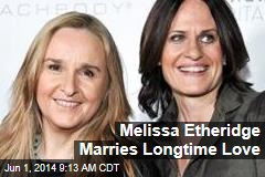 Melissa Etheridge Marries Longtime Love