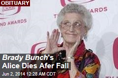 Brady Bunch 's Alice Dies Afer Fall