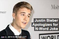 Justin Bieber Apologizes for N-Word Joke