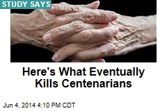 Most Centenarians Avoid Cancer, Heart Disease