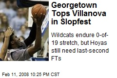 Georgetown Tops Villanova in Slopfest