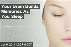 Your Brain Builds Memories As You Sleep