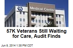 57K Veterans Still Waiting for Care, Audit Finds