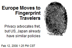 Europe Moves to Fingerprint Travelers