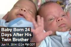 Baby Born 24 Days After His Twin Brother
