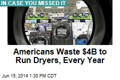 Americans Waste $4B to Run Dryers, Every Year