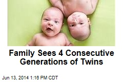 Family Sees 4 Consecutive Generations of Twins