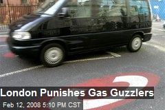 London Punishes Gas Guzzlers