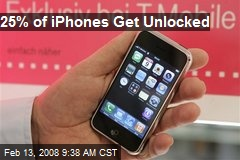 25% of iPhones Get Unlocked