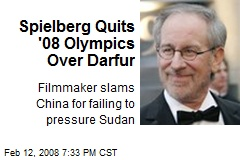 Spielberg Quits '08 Olympics Over Darfur