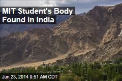 MIT Student's Body Found in India