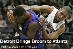 Detroit Brings Broom to Atlanta