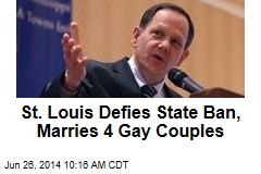 St. Louis Defies State Ban, Marries 4 Gay Couples