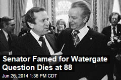 Senator Famed for Watergate Question Dies at 88