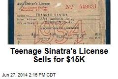Teenage Sinatra's License Sells for $15K