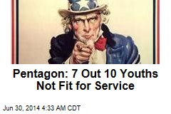 Pentagon: 7 Out 10 Youths Not Fit for Service