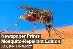 Newspaper Prints Mosquito-Repellant Edition