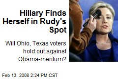 Hillary Finds Herself in Rudy's Spot