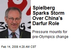 Spielberg Sparks Storm Over China's Darfur Role