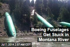 Boeing Bodies Get Stuck in Montana River