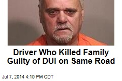 Man Who Killed Family Pleads Guilty to 2nd DUI