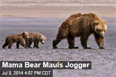 Mama Bear Mauls Jogger