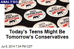 Today's Teens Might Be Tomorrow's Conservatives