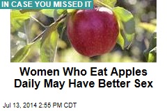 Women Who Eat Apples Daily May Have Better Sex