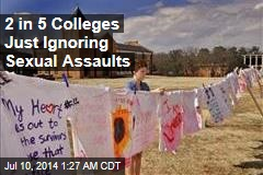 2 in 5 Colleges Not Probing Sexual Assaults