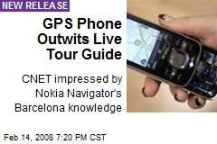 GPS Phone Outwits Live Tour Guide