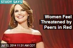 Women Feel Threatened by Peers in Red