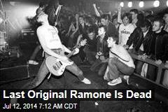 Last Original Ramone Is Dead