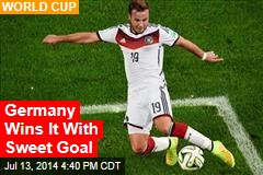 Germany Wins It With Sweet Goal