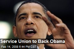 Service Union to Back Obama