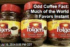 Odd Coffee Fact: Much of the World Favors Instant