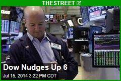 Dow Nudges Up 6
