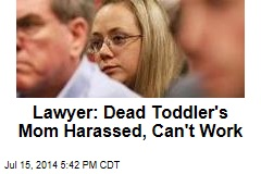 Lawyer: Dead Toddler's Mom Harassed, Can't Work