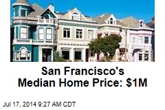 San Francisco's Median Home Price: $1M