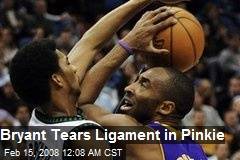 Bryant Tears Ligament in Pinkie