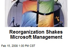 Reorganization Shakes Microsoft Management