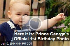 Here It Is: Prince George's Official 1st Birthday Photo