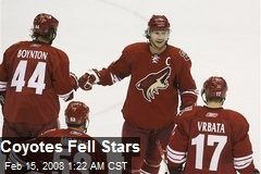 Coyotes Fell Stars