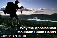 Why the Appalachian Mountain Chain Bends