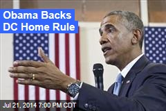 Obama Backs DC Home Rule