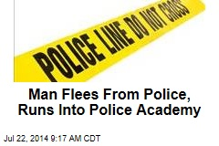 Man Flees From Police, Runs Into Police Academy
