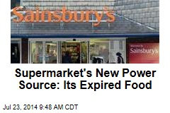 Supermarket's New Power Source: Its Expired Food