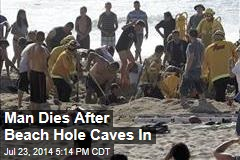 Man Dies After Beach Hole Caves In