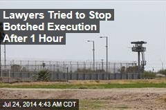 Lawyers Tried to Stop Botched Execution After 1 Hour